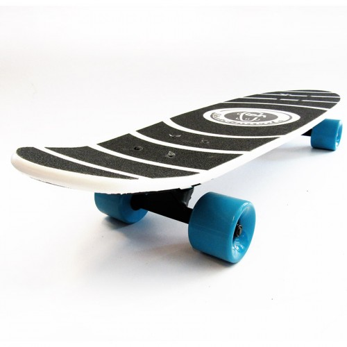 Wood cruiser skateboard 27'' White Fish