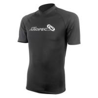 Lycra Short Sleeve Rash Guard for Man black Aropec
