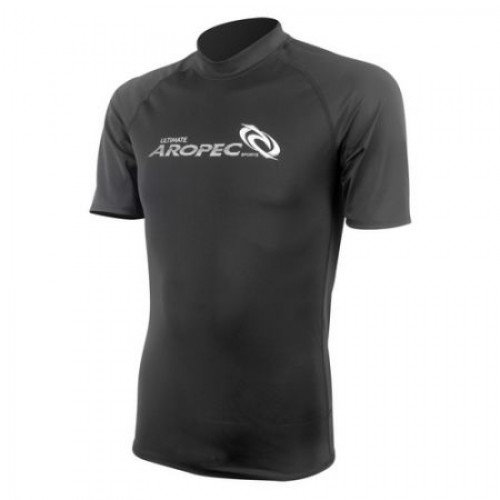 Lycra Short Sleeve Rash Guard for Man black Aropec