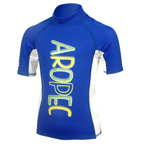 UV lycra short sleeve for kids blue Aropec
