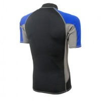 Lycra Short Sleeve Rash Guard for Man black-blue Aropec