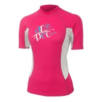Lycra Short Sleeve Rash Guard for Woman Pink Aropec