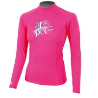 UV Lycra Long Sleeve Rash Guard for Woman pink Aropec