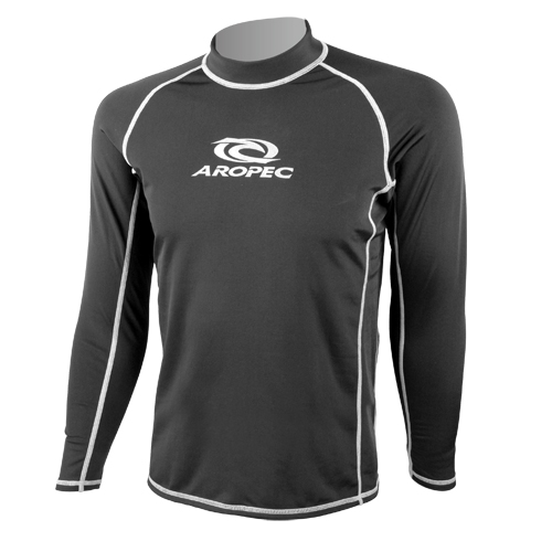 Fleecy-Lycra Long Sleeve Rash Guard Unisex Aropec
