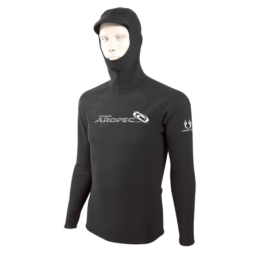 1.5mm neopren long sleeve shirt with hood