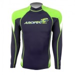 UV Lycra Long Sleeve Rash Guard for Man Navy - Lime