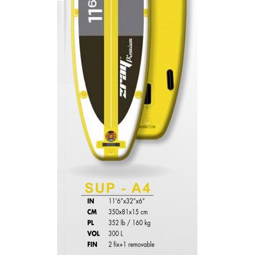 Φουσκωτή σανίδα SUP Α4 premium 11'6'' zray με κουπί
