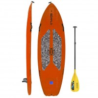 SUP board 9'6'' polyethylene SeaFlo with SUP paddle Orange