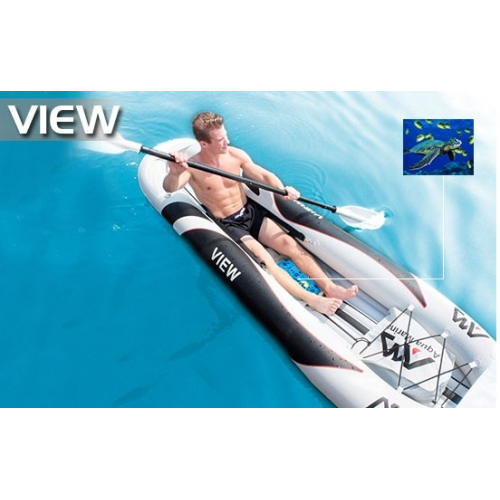 View 1-seat inflatable kayak with transparent window