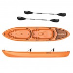 Pair double kayak by SeaFlo with 2 paddles Orange