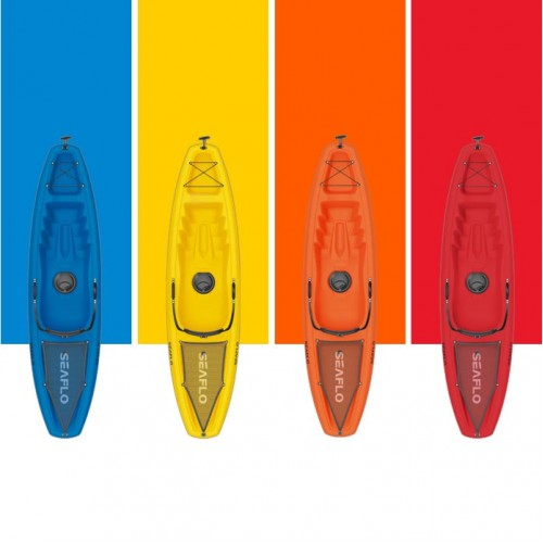 Puny Single Kayak Seaflo with wheel and paddle