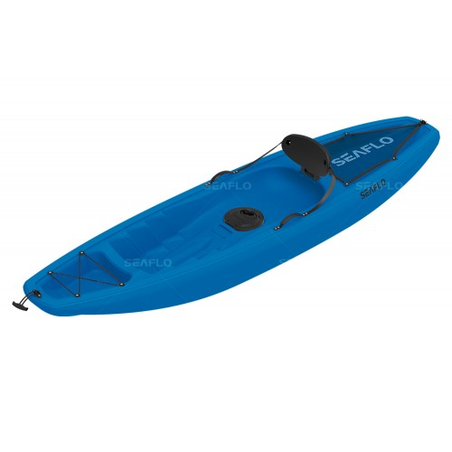 Seaflo Puny Single Kayak with wheel and paddle - Blue