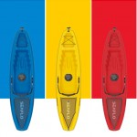 Seaflo Puny Single Kayak with wheel and paddle - Red