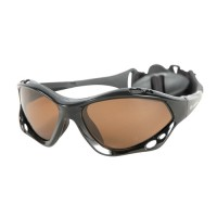 Sunglasses Aropec with polarize lens floating on the water