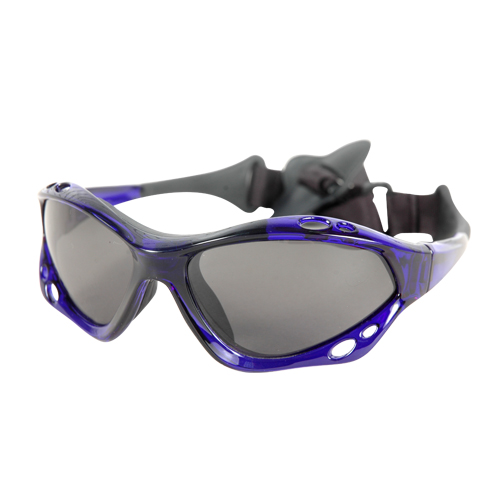 Sunglasses Aropec with polarize lens floating on the water - Blue