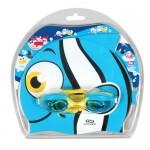Παιδικά γυαλάκια και σκουφάκι κολύμβησης σιλικόνης σετ Clown fish Aropec