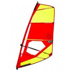 Trainer V2 5,5 Dacron sail - Complete windsurf Rig with epoxy mast - ΤΙΚΙ