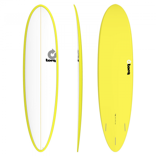 Surf board Torq 7'6'' epoxy ΤΕΤ Funboard White-Yellow