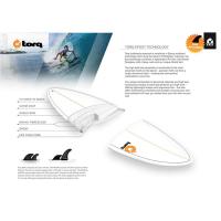 Σανίδα surf Torq 7'6'' epoxyTET Funboard άσπρο-κίτρινο