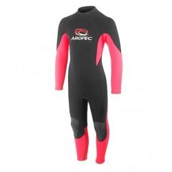 Wetsuit neoprene 2mm child/teen fullsuit V20 pink Aropec