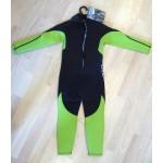 Wetsuit neoprene 2mm child/teen fullsuit lime Aropec