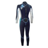 Ladies wetsuit neopren 2,5mm fullsuit black-light blue Aropec