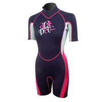 Wetsuit Ladies shorty 2,5mm navy blue-pink Aropec