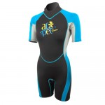 Wetsuit Ladies shorty 2,5mm black-blue Aropec
