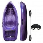 Rider 200 kayak with paddle and backrest Winner - Purple