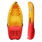 Rider 200 kayak with paddle and backrest Winner - Red/Yellow