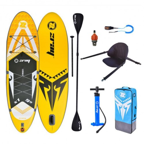 Inflatable SUP board X-rider 9'9'' zray SET with double paddle and bacrest
