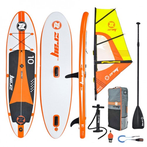 Inflatable SUP board W1 10' zray complete with windsurf sail and paddle