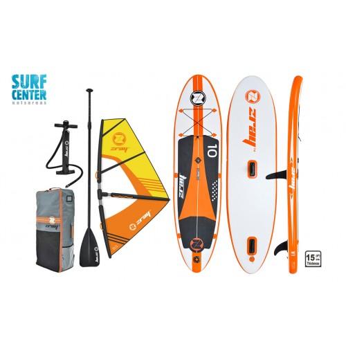 Φουσκωτή σανίδα SUP W1 10' zray κομπλέ με πανί windsurf και κουπί