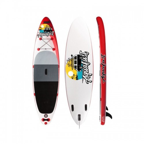 AquaLust Inflatable SUP board 10'6'' complete with 2 in 1 paddle - Red