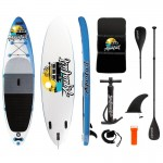 AquaLust Inflatable SUP board 10'6'' complete with 2 in 1 paddle - Blue