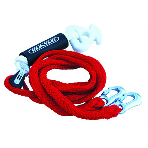 Bridle Tow rope with quick connector and 2 hooks