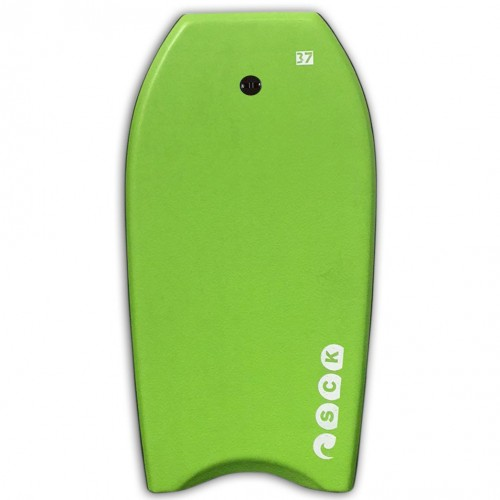 Bodyboard 37inch Green with wrist leash SCK