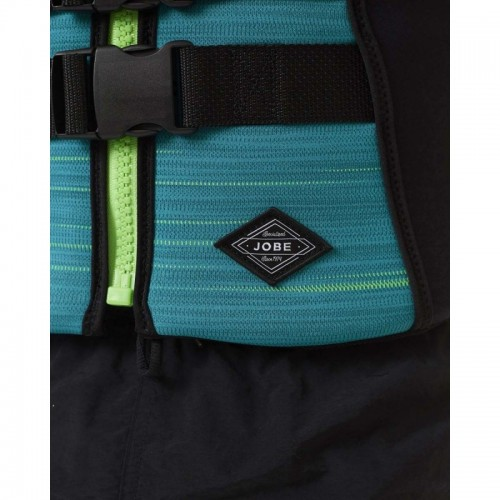 Neoprene mens vest Segmented Teal-Blue