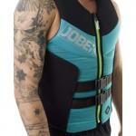Neoprene mens vest Segmented Teal-Blue