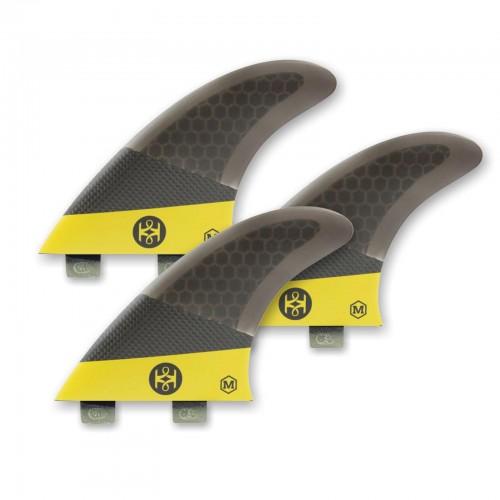 KOALITION Surfboard Fins Thruster Carbon L FCS