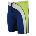 Neoprene Shorts 2mm from men navy blue-lime Aropec