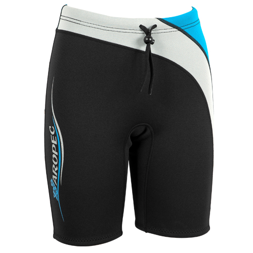 Neoprene Shorts ladies 2mm black-light blue Aropec