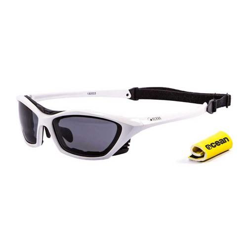 Ocean Sunglasses with polarized lens / Floating  / Lake Garda White-Smoke lens