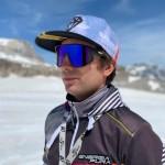 Sunglasses Killy shiny black with blue polarize lens