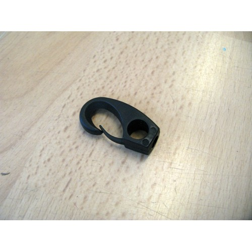 Plastic clip for rope