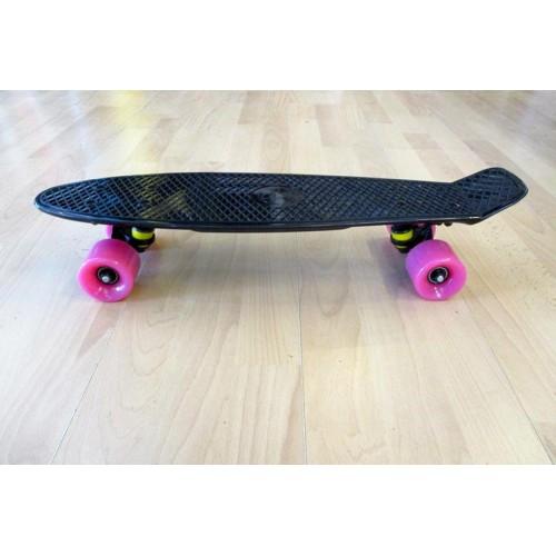 Πλαστικό skateboard 22.5'' Μαύρο Fish