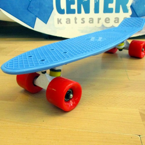 Plastic skateboard 22.5'' Light Blue Fish