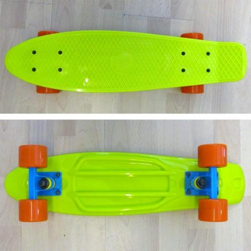 Πλαστικό skateboard 22.5'' Κιτρινοπράσινο Fish