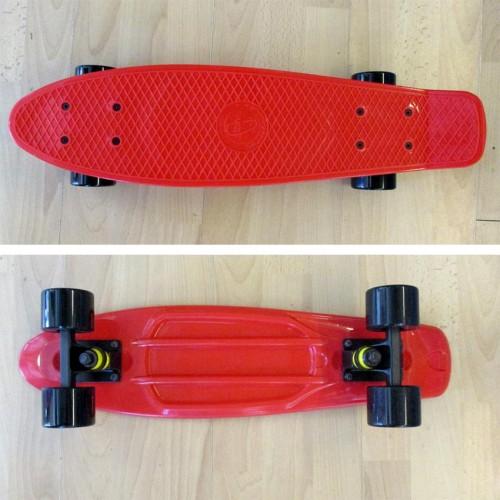 Plastic skateboard 22.5'' Red Fish