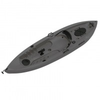 Seaflo LUPIN - Single seat fishing kayak with wheel and paddle - Grey